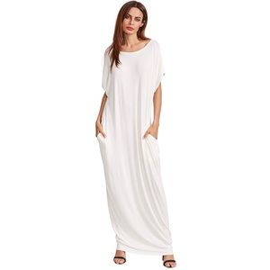 Dresses & Skirts - Women's Long White 2 Pocket Dress 2X